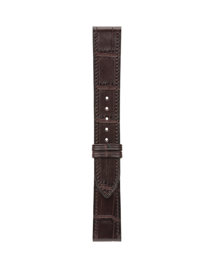 Crocodile@Dark Brown Matte Strap