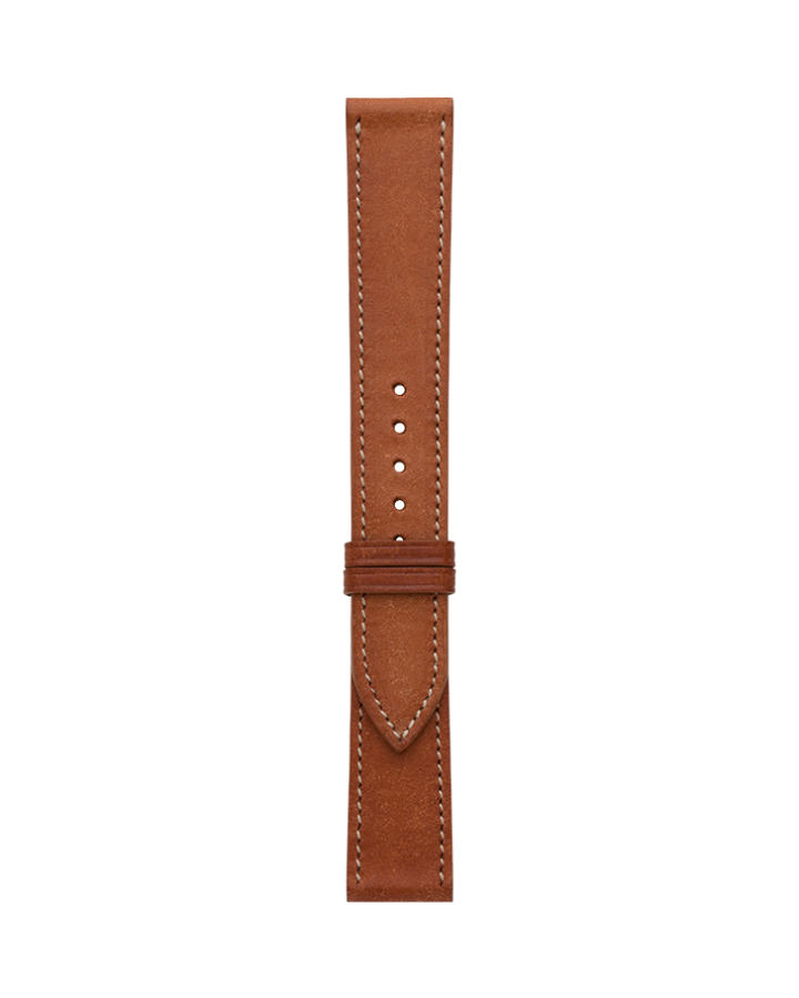 Calf@Cognac Brown Matte Strap