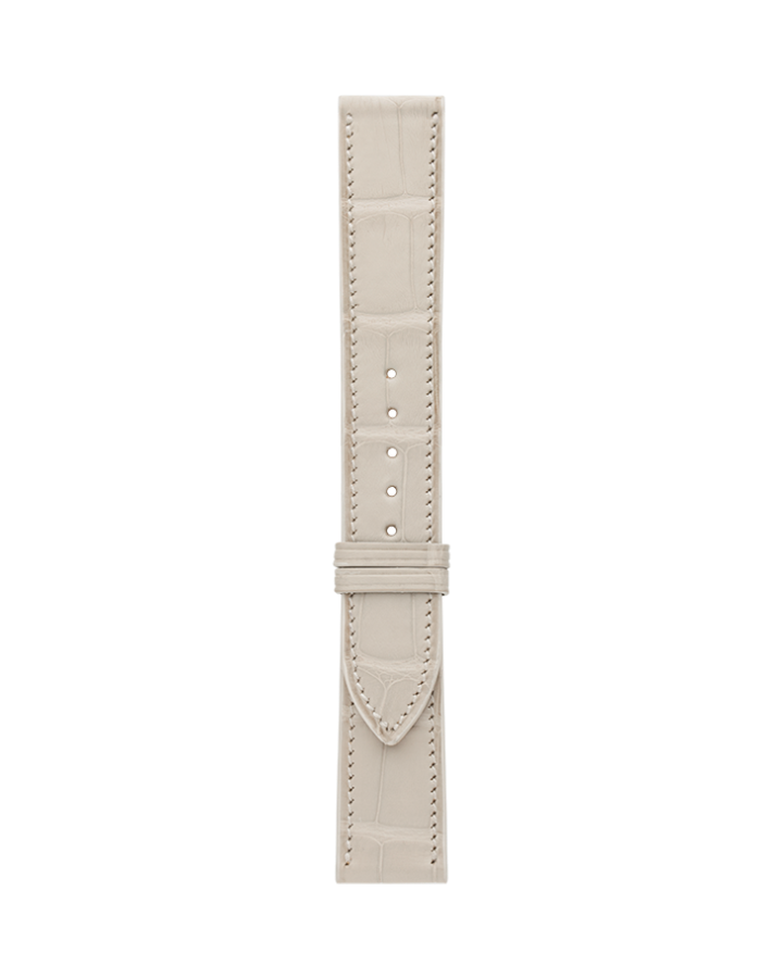 Crocodile@Cream Matte Strap