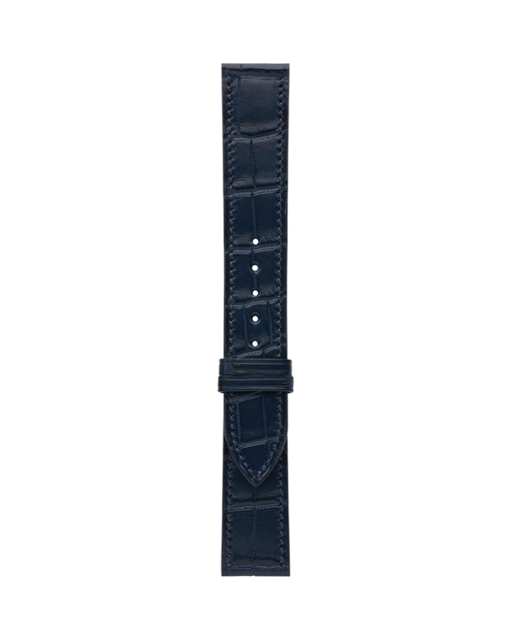 Crocodile@Dark Navy Matte Strap