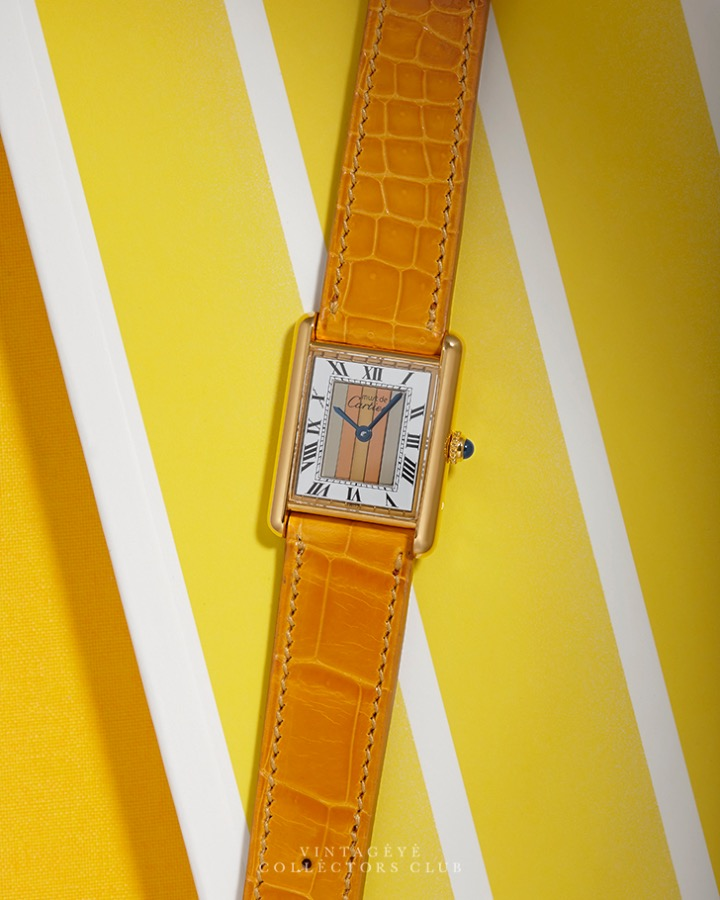 CARTIER@1990s Must Tank Trinity Large M4988